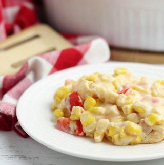 simple side dish recipe Fiesta Corn Casserole