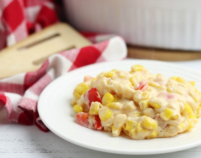 simple side dish recipe Fiesta Corn Casserole