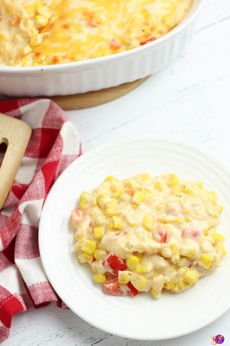 This colorful and festive Fiesta Corn Casserole recipe uses everyday kitchen staples to create a comforting casserole the whole family will enjoy.
