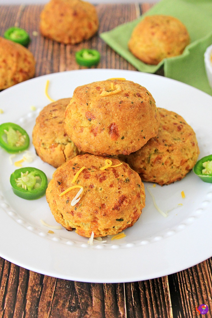 These melt-in-your-mouth Jalapeño Cheddar Biscuits are the perfect addition to any meal. Soft, flaky, and moist, these homemade biscuits pack just the right amount of heat from the jalapeños. Best of all, they are really easy to make!