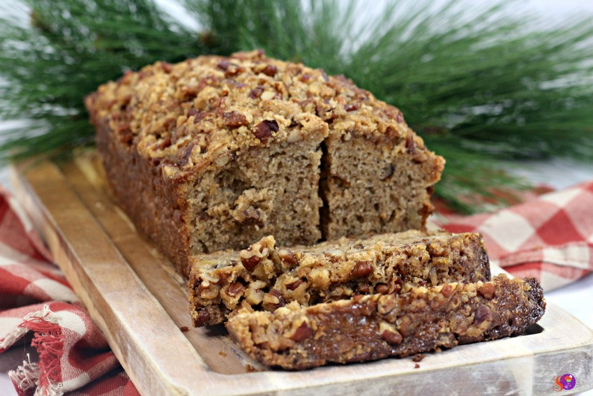 quick ginger pear bread