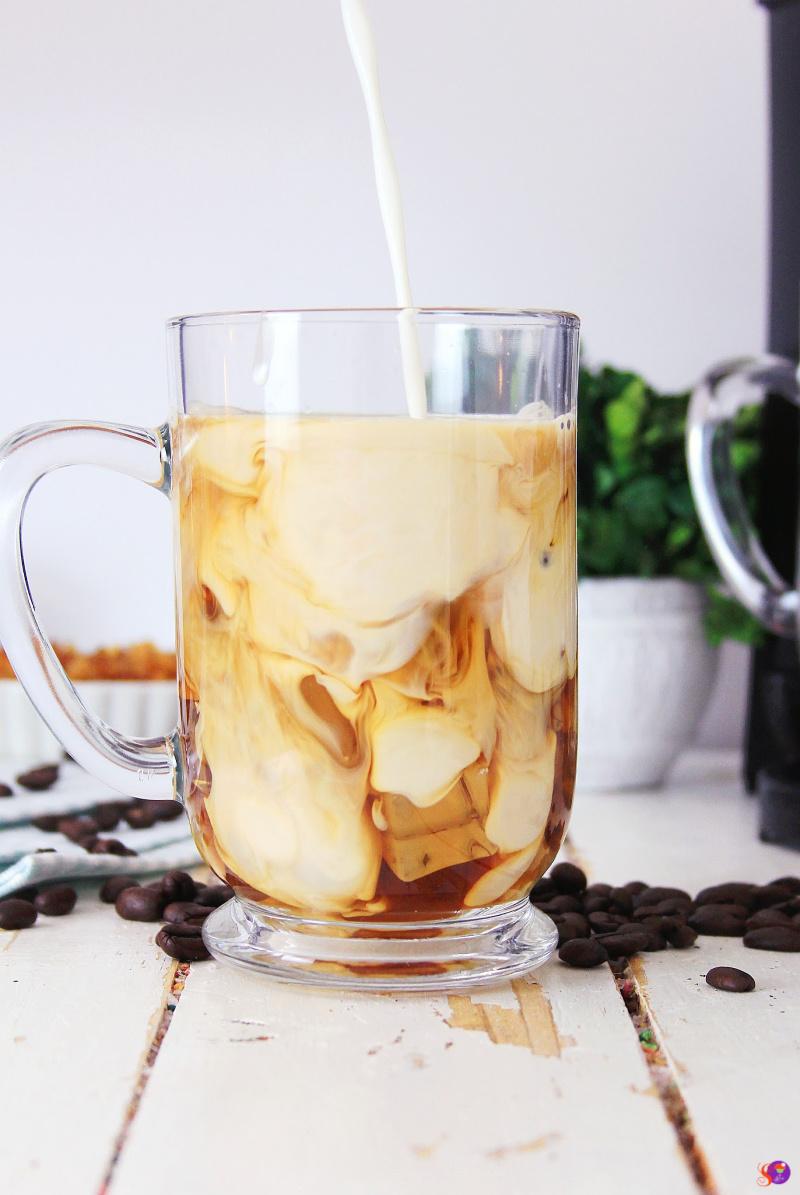 Caramel Brulee Crunch Iced Coffee