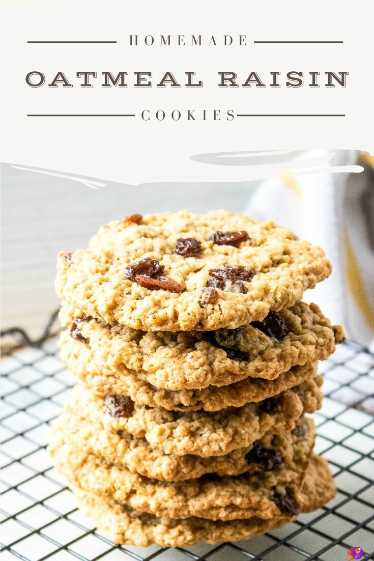 Loaded with sweet, plump raisins, nutty oats, and pumpkin pie spice, these soft and chewy Oatmeal Raisin Cookies are practically bursting with homemade goodness! Best of all, they're easy to make!