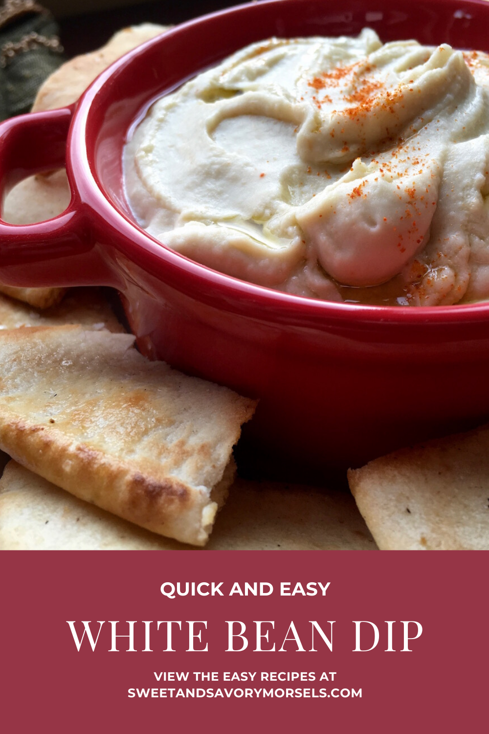 This easy White Bean Dip can be served with veggies, pita chips, breadsticks, and so much more!