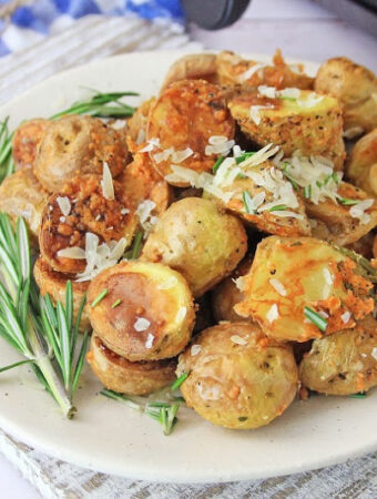 Air Fryer Parm Rosemary Potatoes