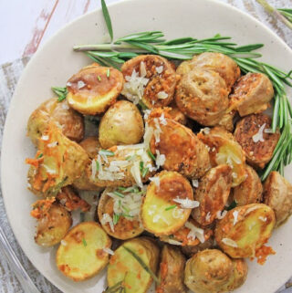 Air Fryer Parm Rosemary Potatoes