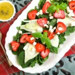 easy Spinach, Strawberry & Fennel Salad with Balsamic Vinaigrette Dressing