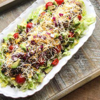 beef taco salad recipe