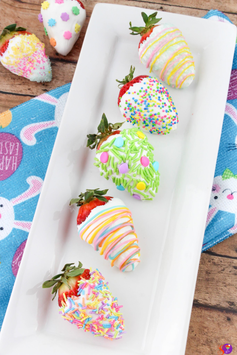 Festive Chocolate Covered Easter Strawberries