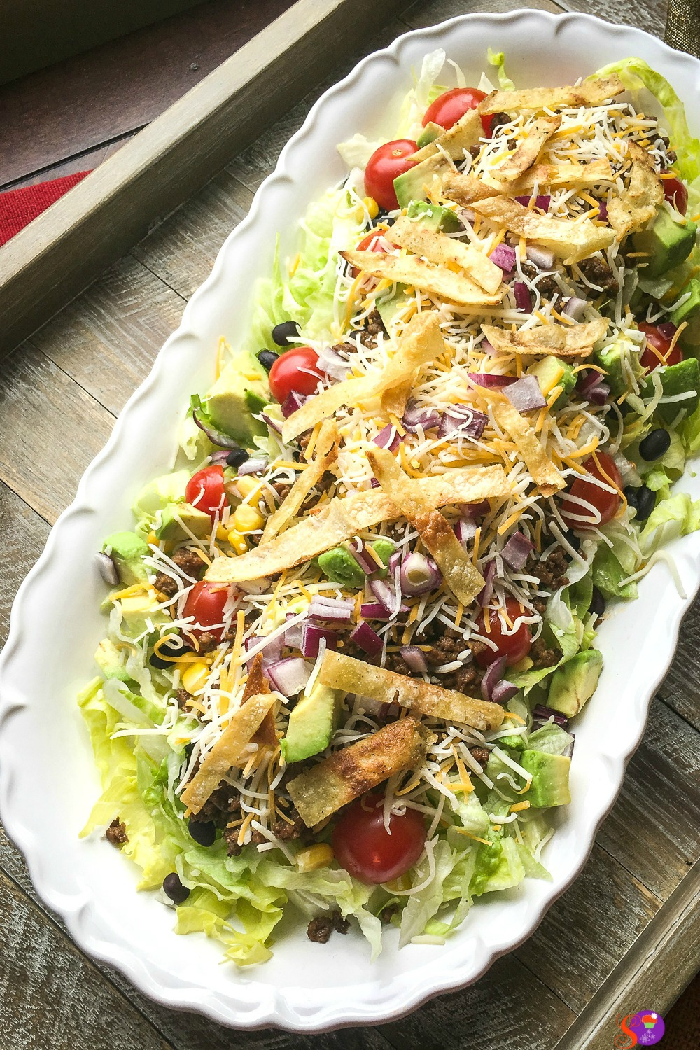 easy weeknight dinner beef taco salad
