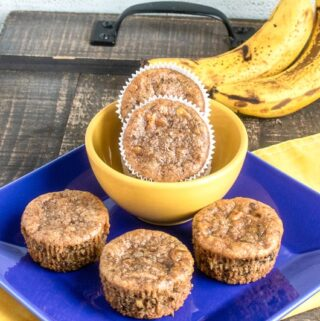 easy banana chocolate chunk muffins