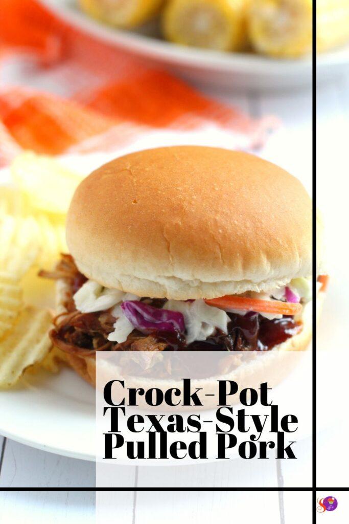 Crock-Pot Texas-Style Pulled Pork on a bun