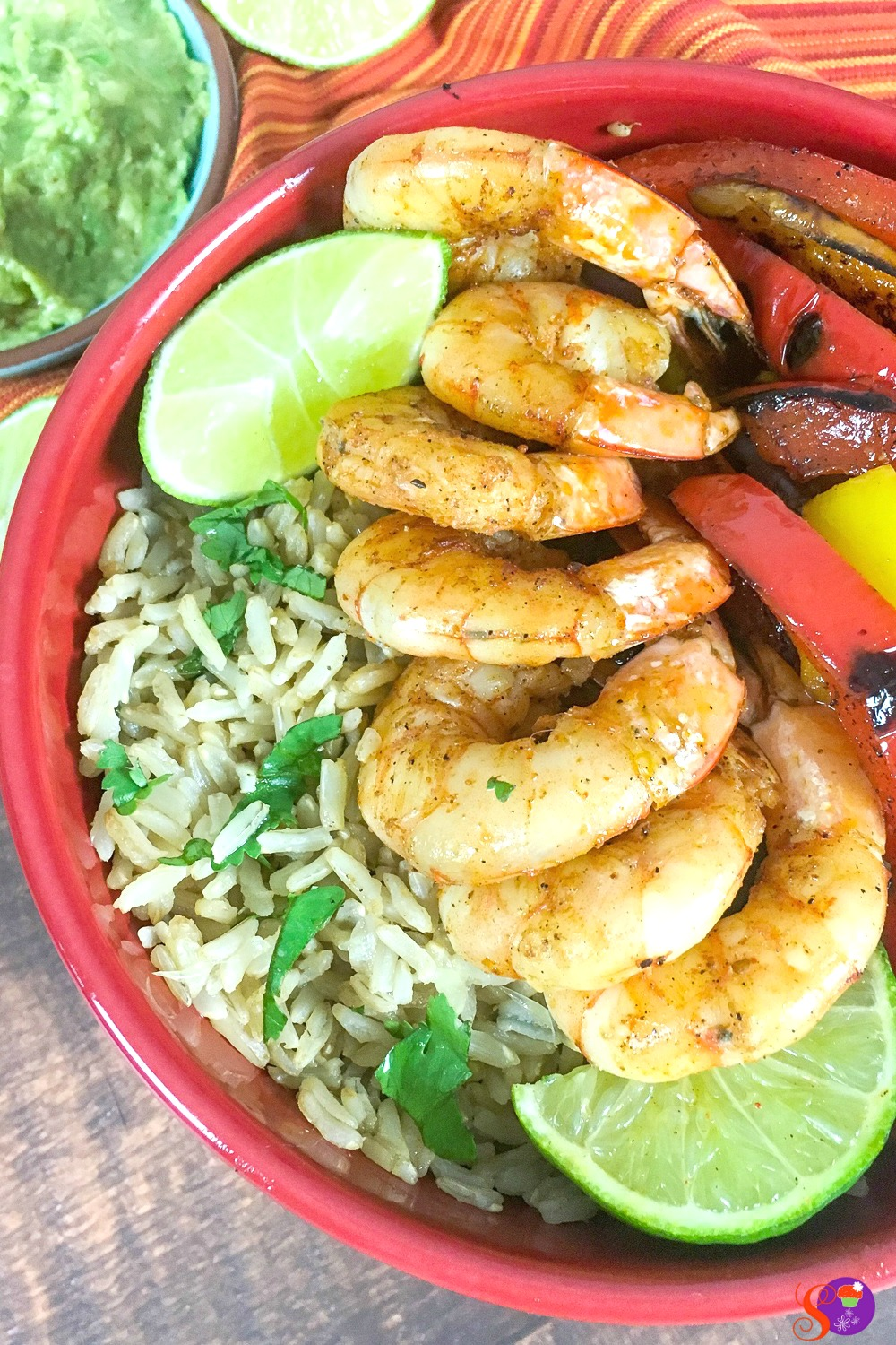 Preparing these Shrimp Fajita Bowls with Cilantro-Lime Rice is a breeze! There are no fancy steps, and everything is cooked in the same skillet - which means less mess to clean!