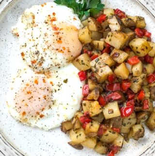 easy Skillet Parmesan Breakfast Potatoes