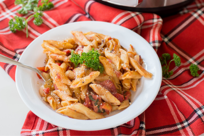 Instant Pot Parsley Penne Pasta