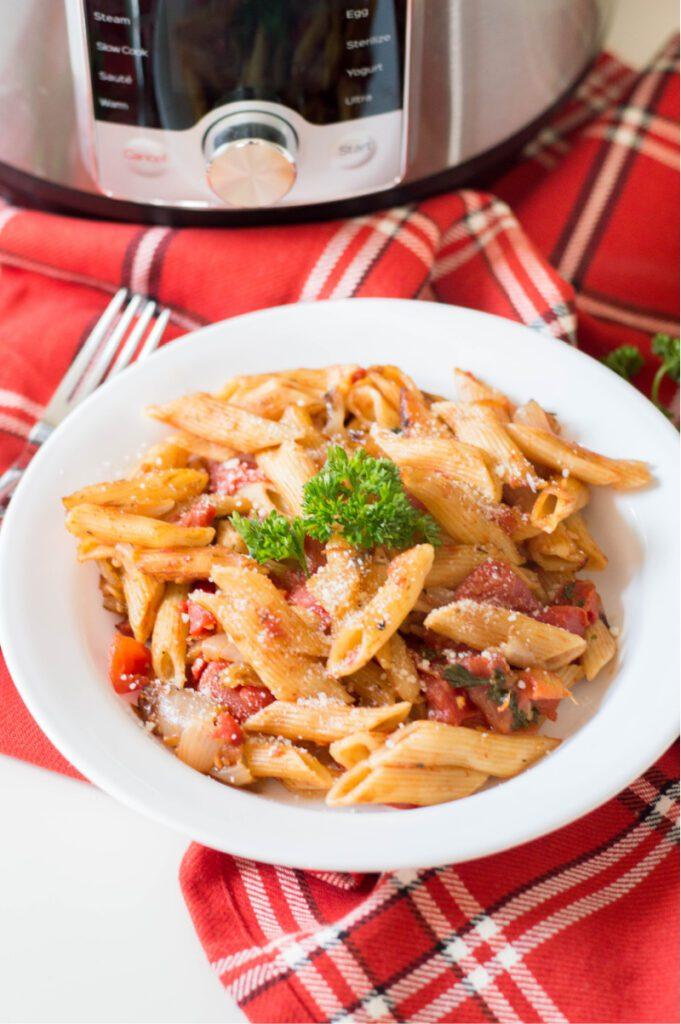 pasta on a dish