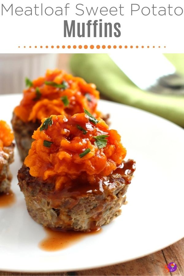 Meatloaf Sweet Potato Muffins on a plate
