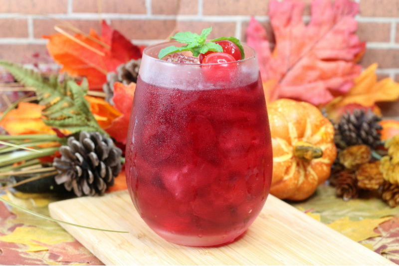 Autumn Harvest Hard Cider Drink on a table