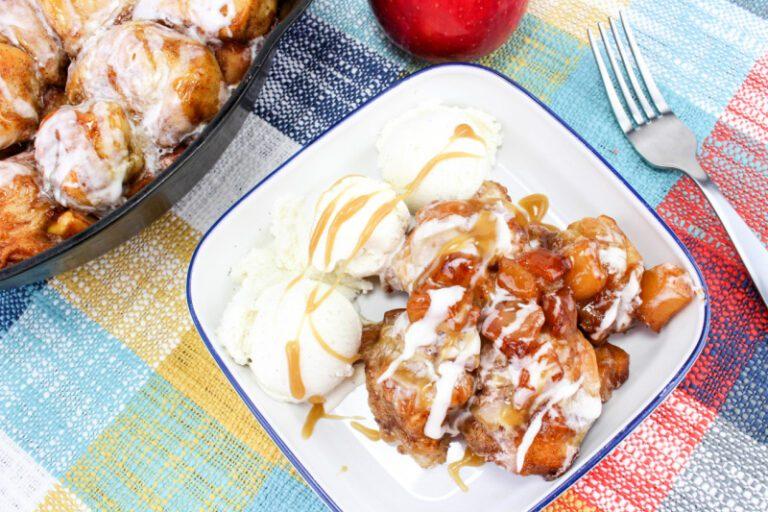 Iron Skillet Caramel Apple Pull Apart Bread Recipe